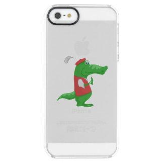 Crocodile playing golf cartoon iPhone 6 plus case