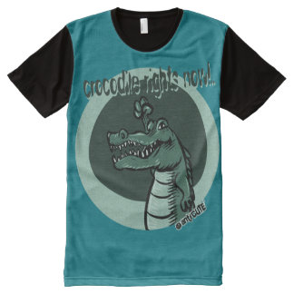 crocodile rights now blue All-Over print T-Shirt