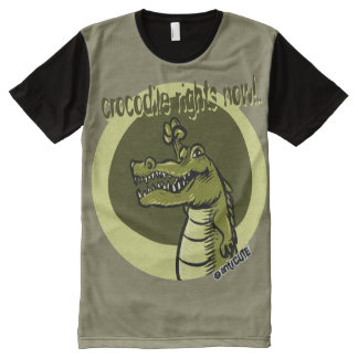 crocodile rights now green All-Over print T-Shirt