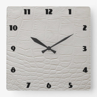 CROCODILE ROCK CLOCK White Alligator
