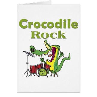 crocodile rock greeting card