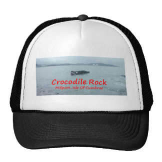 Crocodile Rock High Tide ( Red Text ) Mesh Hats