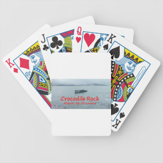Crocodile Rock High Tide ( Red Text ) Bicycle Poker Cards