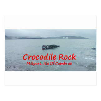 Crocodile Rock High Tide ( Red Text ) Postcards