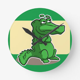 Crocodile Round Clock