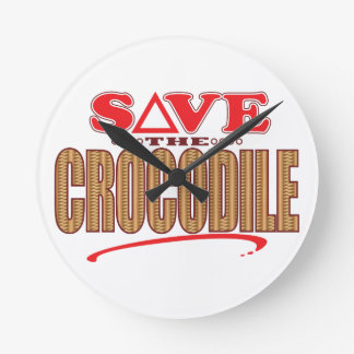 Crocodile Save Round Clock