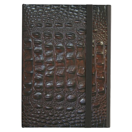 Crocodile Skin Black Brown Faux Leather Cover For