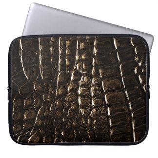 Crocodile Skin Neoprene Laptop Sleeve Bag