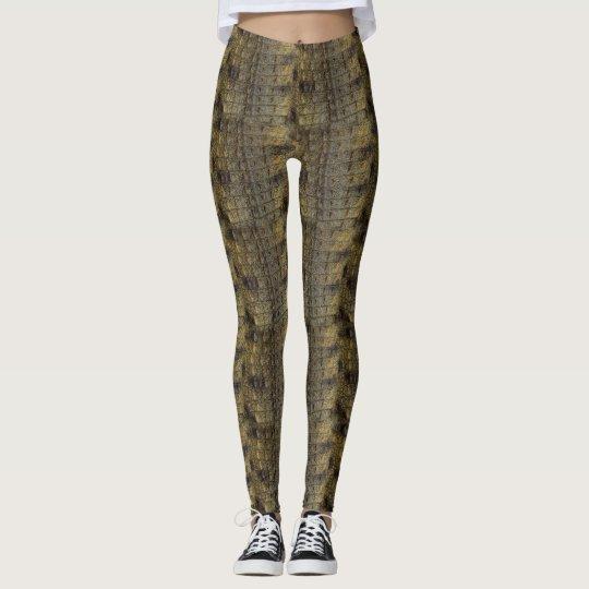 Crocodile Skin Pattern All-Over-Print Leggings