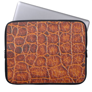 Crocodile Skin Print Laptop Sleeve