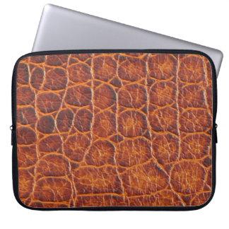 Crocodile Skin Print Laptop Sleeve