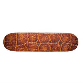 Crocodile Skin Print Skateboard