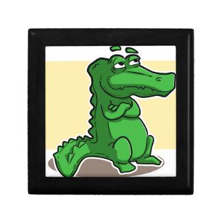 Crocodile Small Square Gift Box
