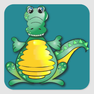 Crocodile Square Sticker