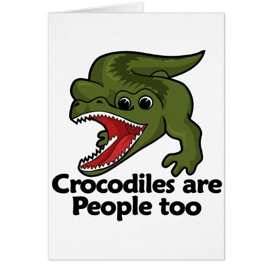 Crocodiles are People too Card