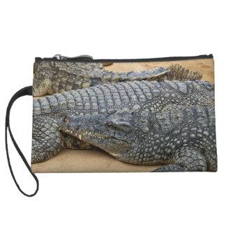 Crocodiles Wristlet Purses