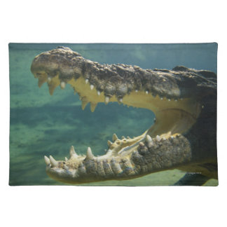 Crocodiles open mouth placemat
