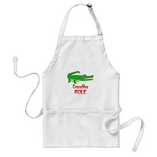 Crocodiles Rule Aprons