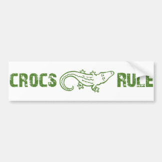Crocs Rule Bumper Sticker