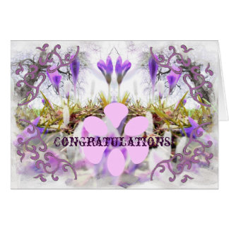 Crocus Congratulation Card