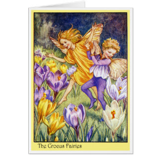 Crocus Fairy Card