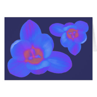 Crocus Flower Hot and Cold Greeting Card