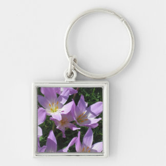 Crocus Keyring Silver-Colored Square Key Ring
