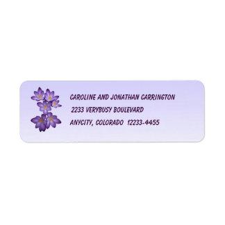 Crocus Return Address Label