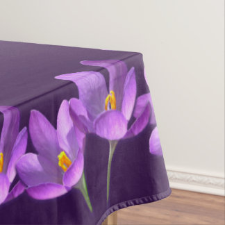 Crocus Tablecloth Easter Flowers Crocus Tablecloth