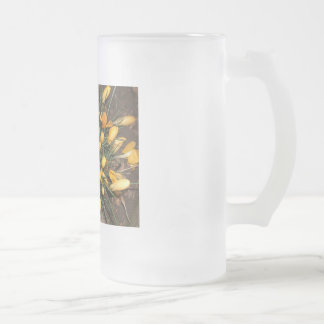 Crocuses Frosted Glass Mug