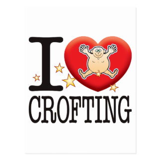 Crofting Love Man Postcard