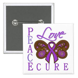 Crohn s Disease Butterfly Peace Love Cure Button