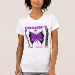 Crohn's Disease Awareness Butterfly Tee Shirts
