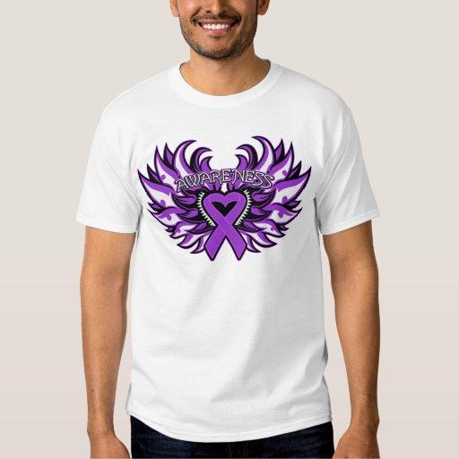 Crohn's Disease Awareness Heart Wings.png T-shirts