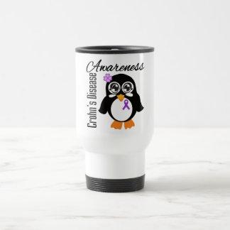 Crohn's Disease Awareness Penguin Stainless Steel Travel Mug