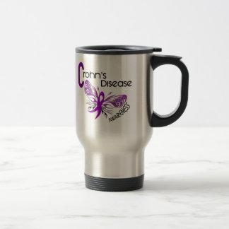 Crohn's Disease BUTTERFLY 3 Stainless Steel Travel Mug