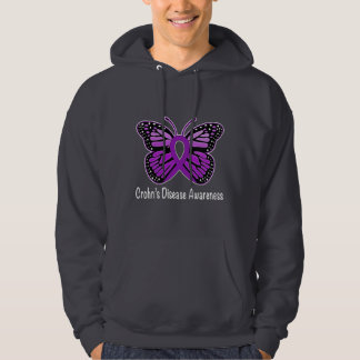Crohn's Disease Butterfly Awareness Ribbon Hoodie