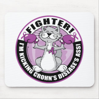 Crohn's Disease Cat Fighter Mouse Pads