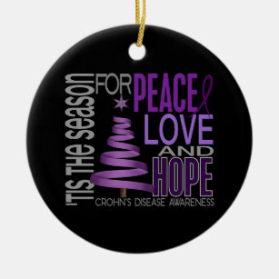 Crohns Christmas Tree Decorations Ornaments Zazzle Co Uk