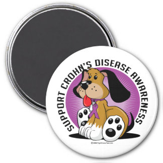 Crohn's Disease Dog 7.5 Cm Round Magnet