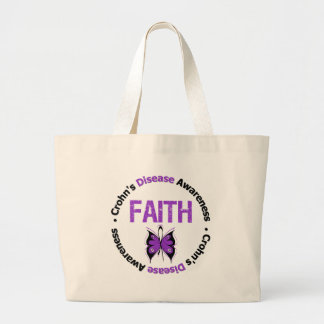 Crohns Disease Faith Butterfly Tote Bag