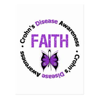 Crohns Disease Faith Butterfly Postcard