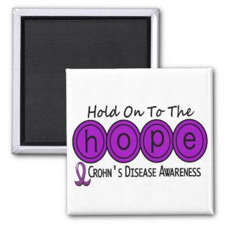 Crohns Disease HOPE 6 Square Magnet
