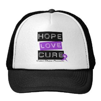 Crohn's Disease Hope Love Cure Cap