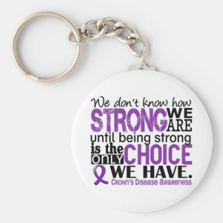 Crohn's Disease How Strong We Are Basic Round Button Key Ring
