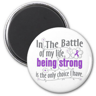 Crohns Disease In The Battle Refrigerator Magnets