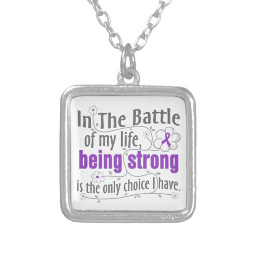 Crohns Disease In The Battle Personalized Necklace