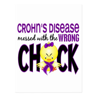 Crohn's Disease Messed With The Wrong Chick Postcard