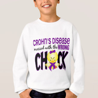 Crohn's Disease Messed With The Wrong Chick Sweatshirt
