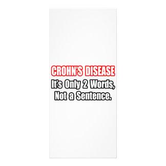 Crohn's Disease...Not a Sentence Customised Rack Card